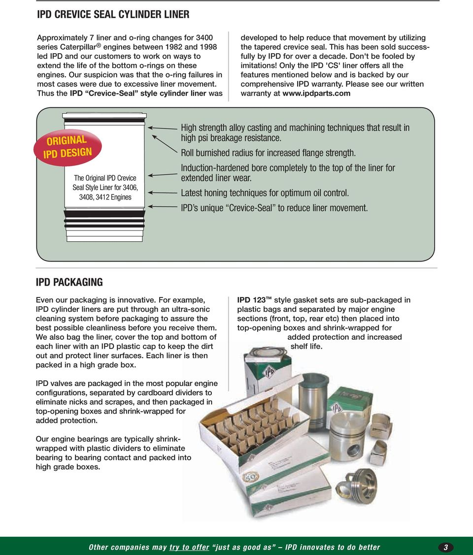 IPD Products for CATERPILLAR - PDF