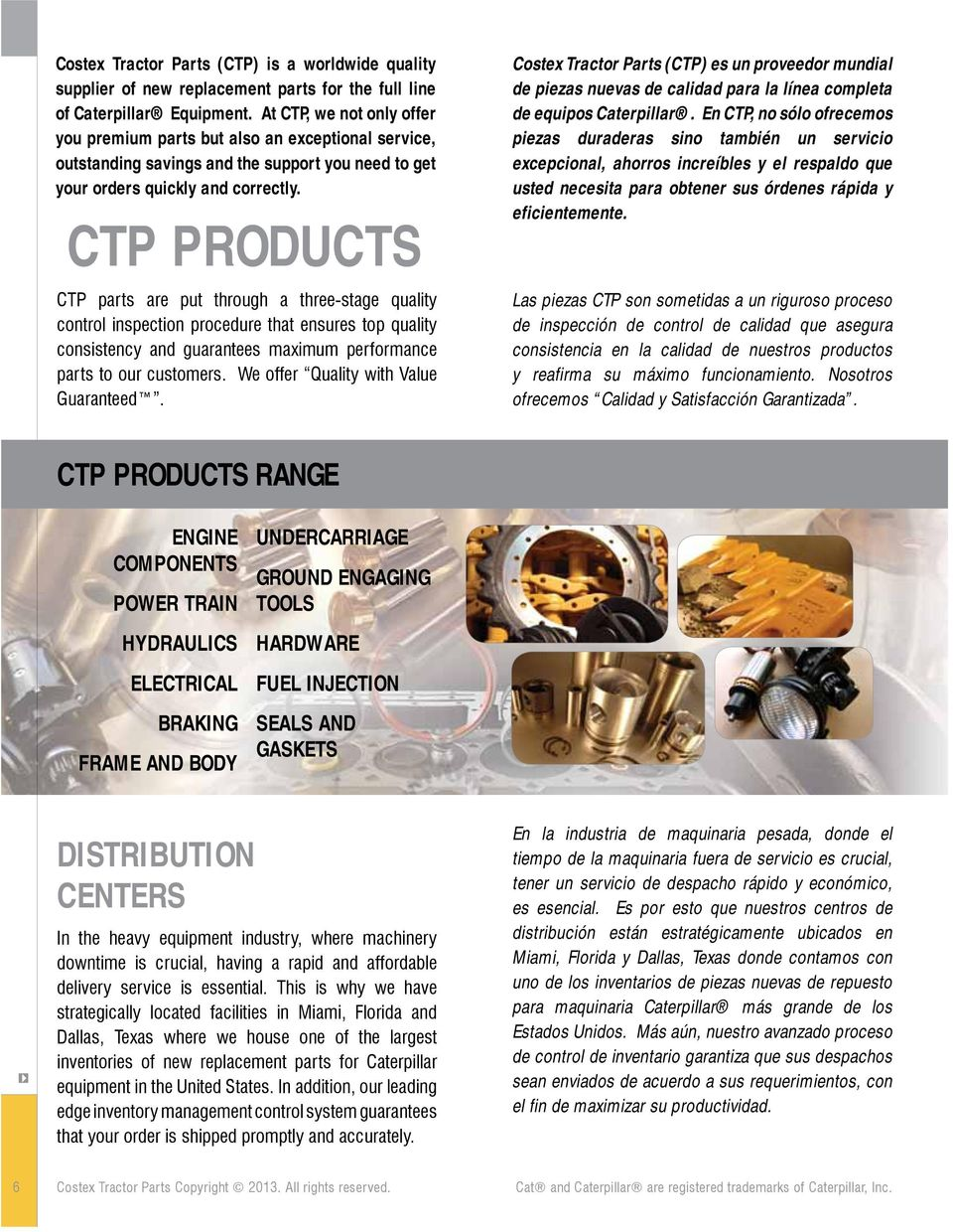 Quality Replacement Parts For Your Caterpillar Equipment Pdf Panel Fuse Box And Wiring Harness Motor Grader 12f Ctp Products Are Put Through A Three Stage Control Inspection Procedure That