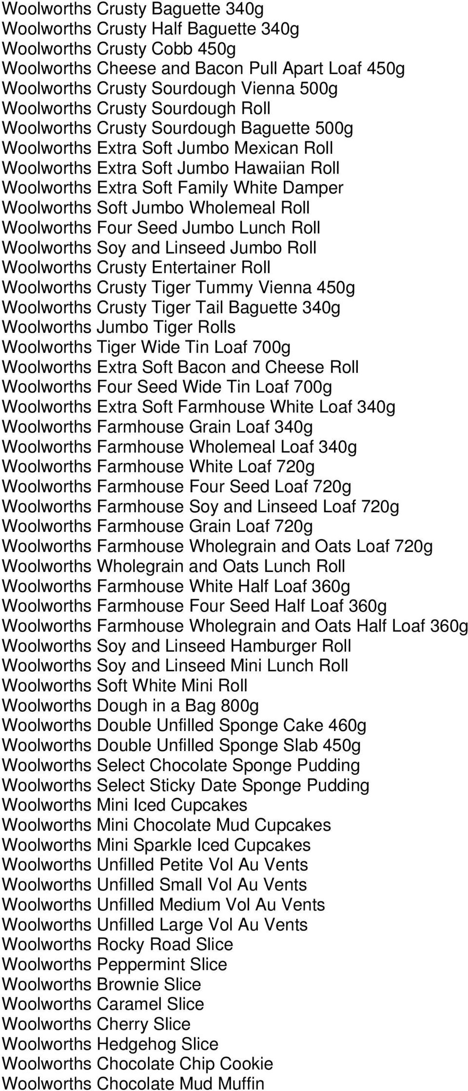 Woolworths Own Brand Products Produced With Roundtable On