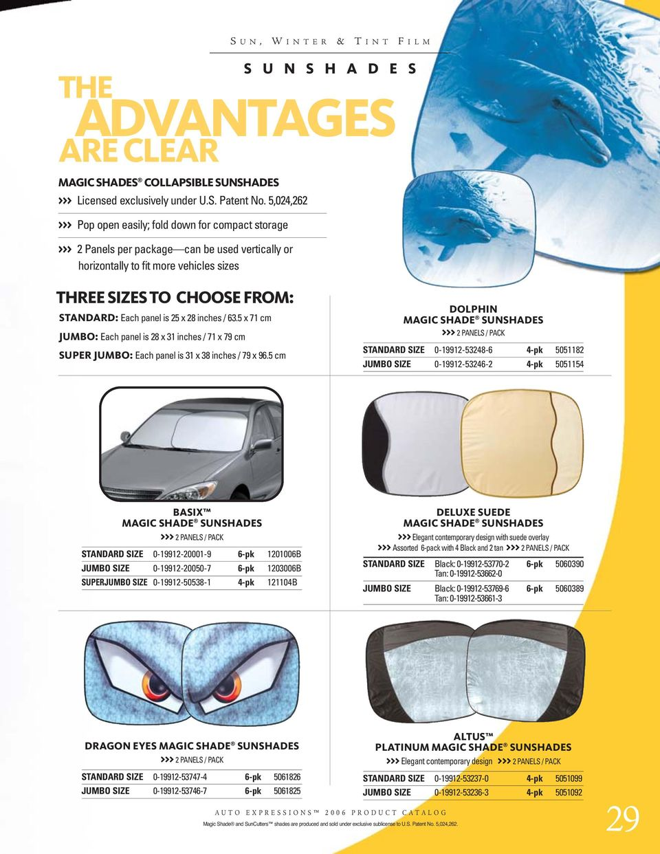 Windshield Sunshades Interior Accessories Altus Platinum Magic Shade Standard Sunshade Auto Expressions 5051099