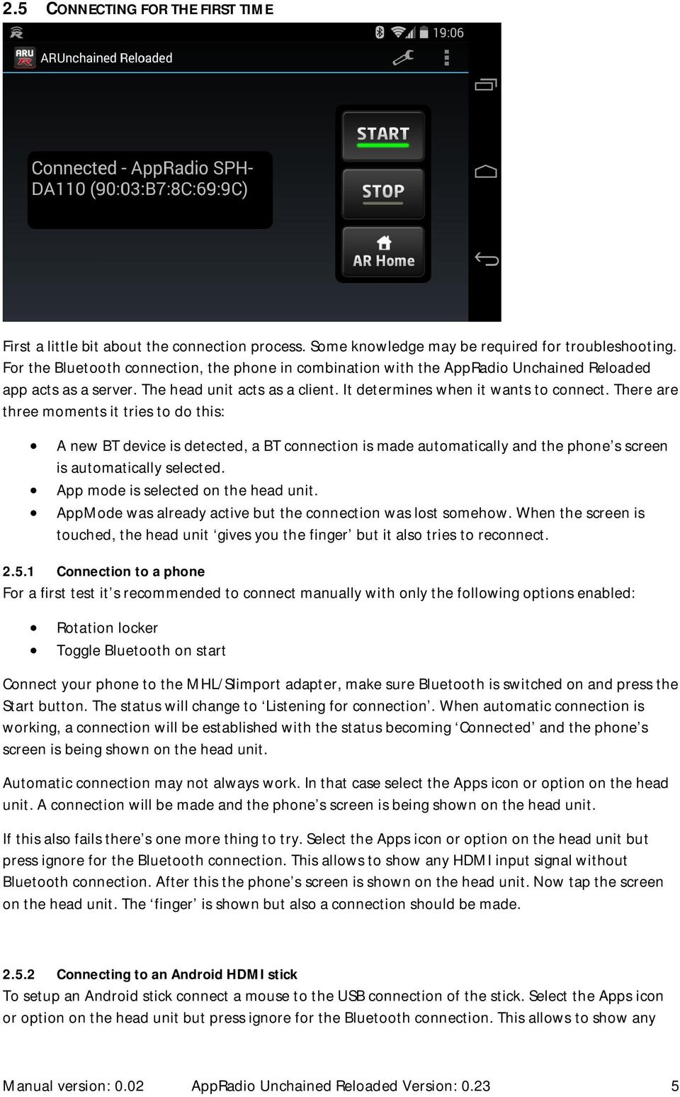 AppRadio Unchained Reloaded User s Guide - PDF