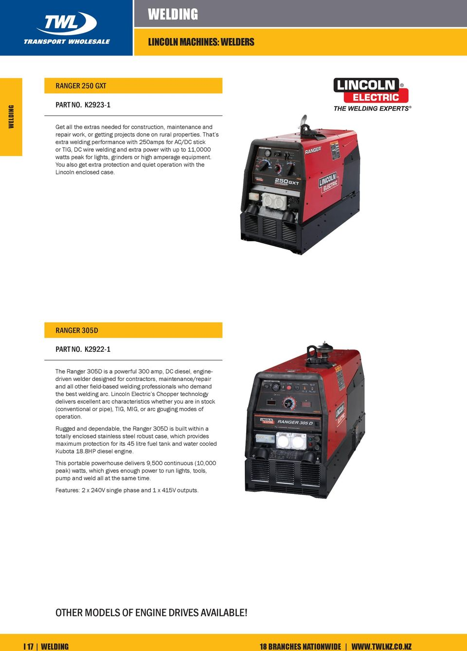 Welding Lincoln Machines Stick Welders Handy 130 Part No K 100sg Wiring Diagram You Also Get Extra Protection And Quiet Operation With The Enclosed Case Ranger 305d