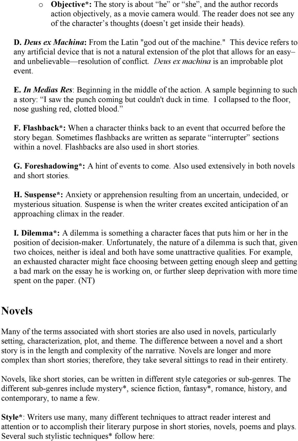 Story and Novel Terms 12 - PDF