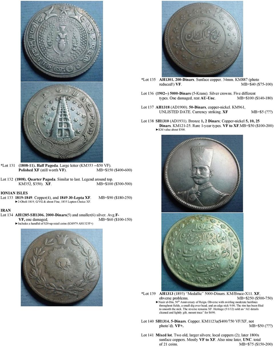 WORLD NUMISMATICS  AUCTION #27 For the prices realized at