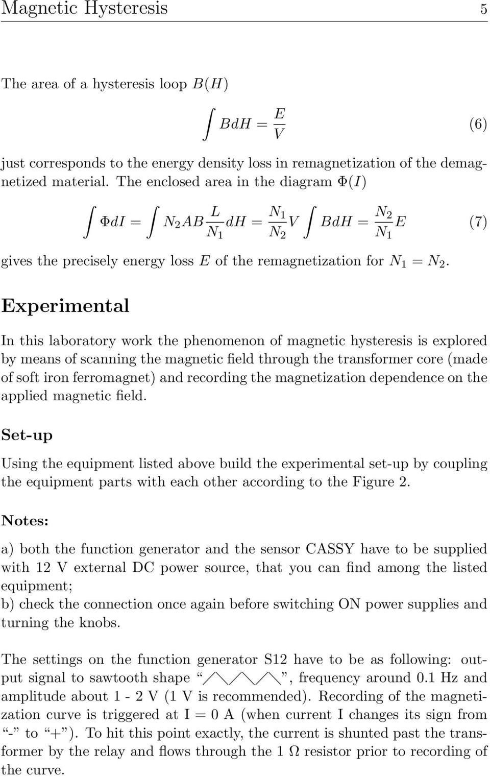 Em4 Magnetic Hysteresis Pdf Magneticfieldsensorconnections Electronicslab Experimental In This Laboratory Work The Phenomenon Of Is Explored By Means Scanning