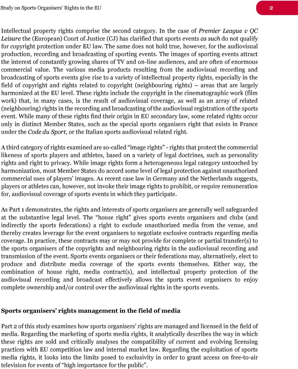 Study on sports organisers rights in the European Union. Final ... 854b152d5eb4d