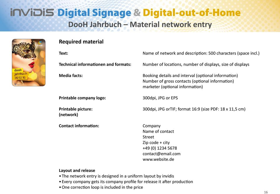 Digital Signage & Digital-out-of-Home RATE CARD PDF