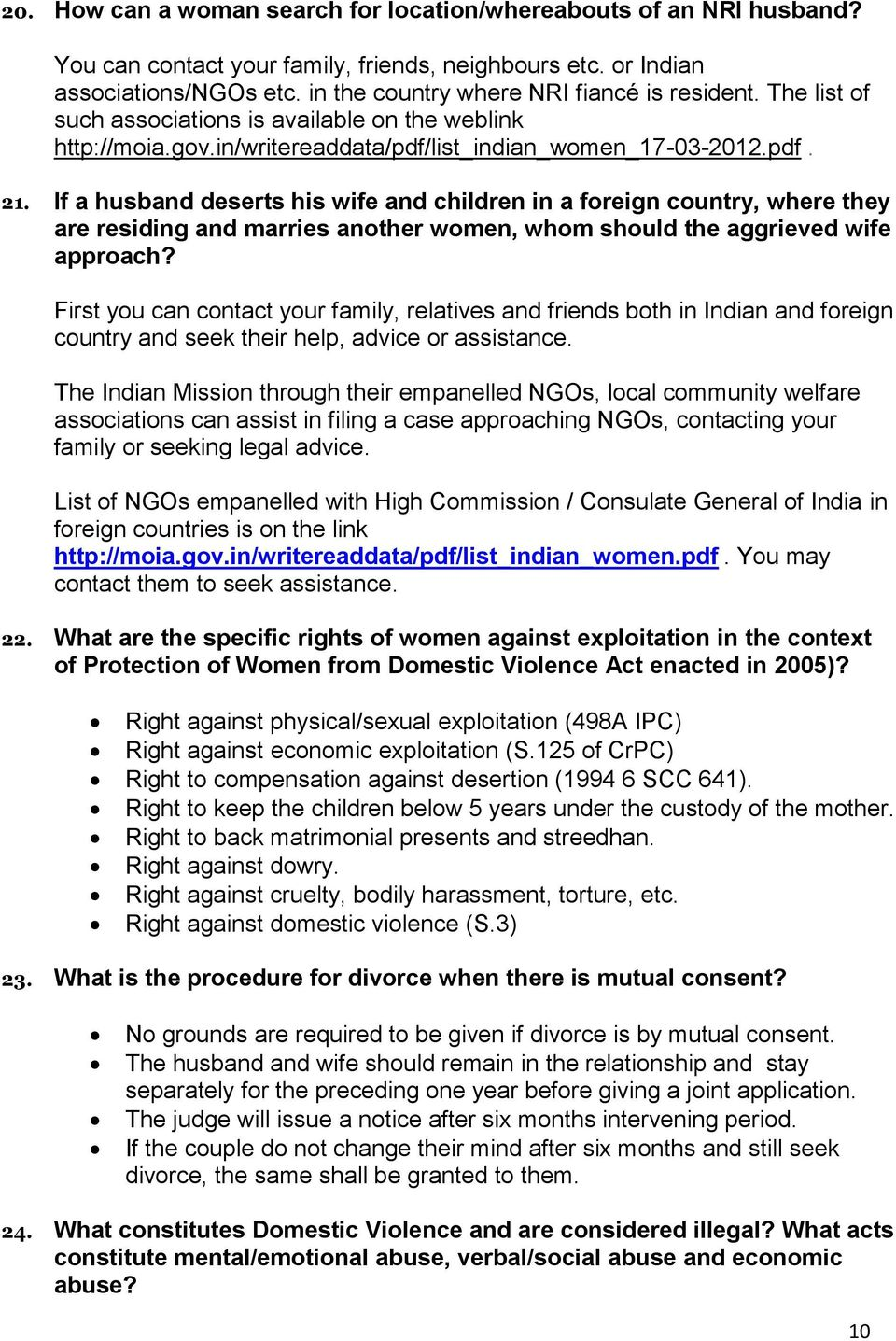 FAQs  How to address issues related to Marriages of Indian