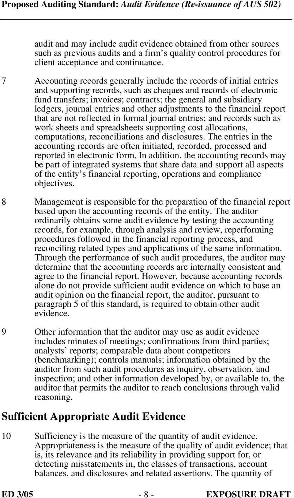 ledgers, journal entries and other adjustments to the financial report that  are not reflected in. 9 audit evidence ...