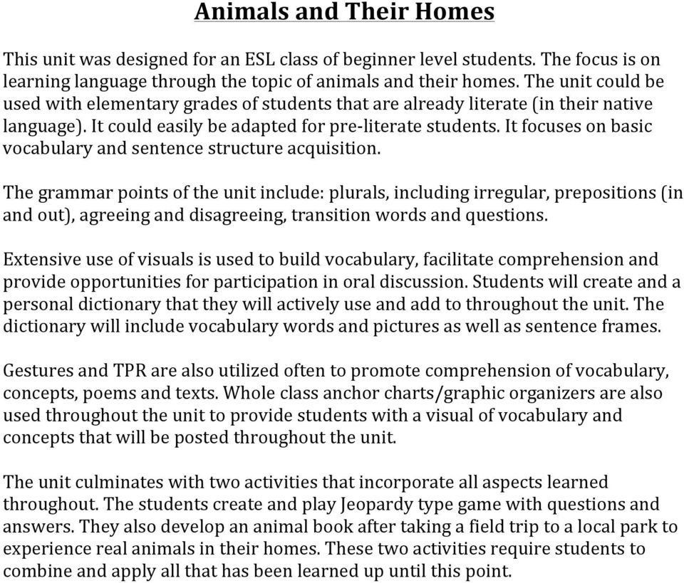 Animals And Their Homes PDF