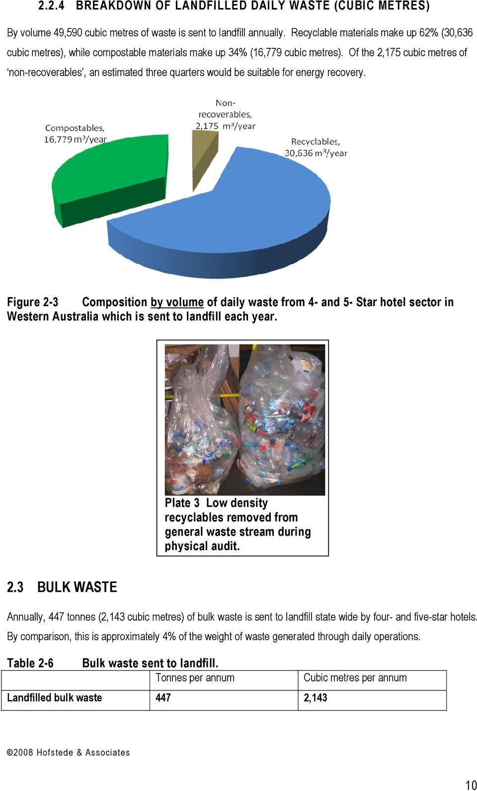 Waste Generation In The Wa Hospitality Industry Pdf Western Saddle Diagram Of 2175 Cubic Metres Non Recoverables An Estimated Three Quarters Would Be