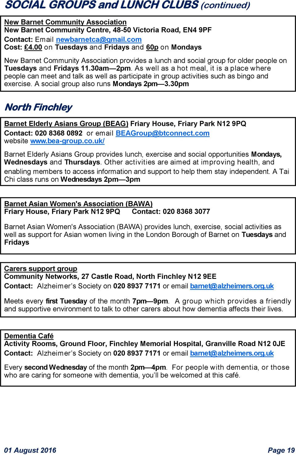 What s On near you for over 55s - PDF