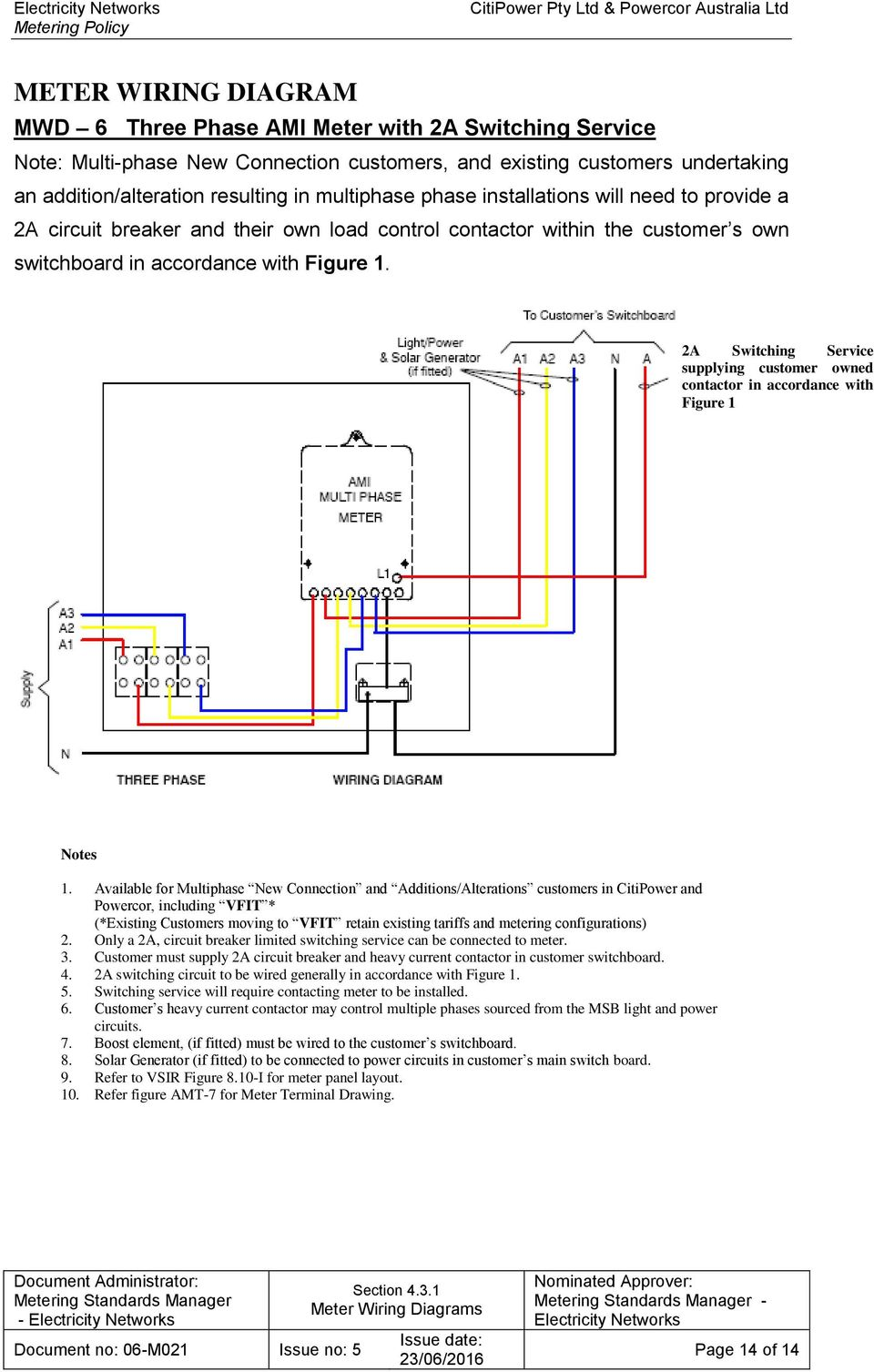 2a switching service supplying customer owned contactor in accordance with  figure 1 1