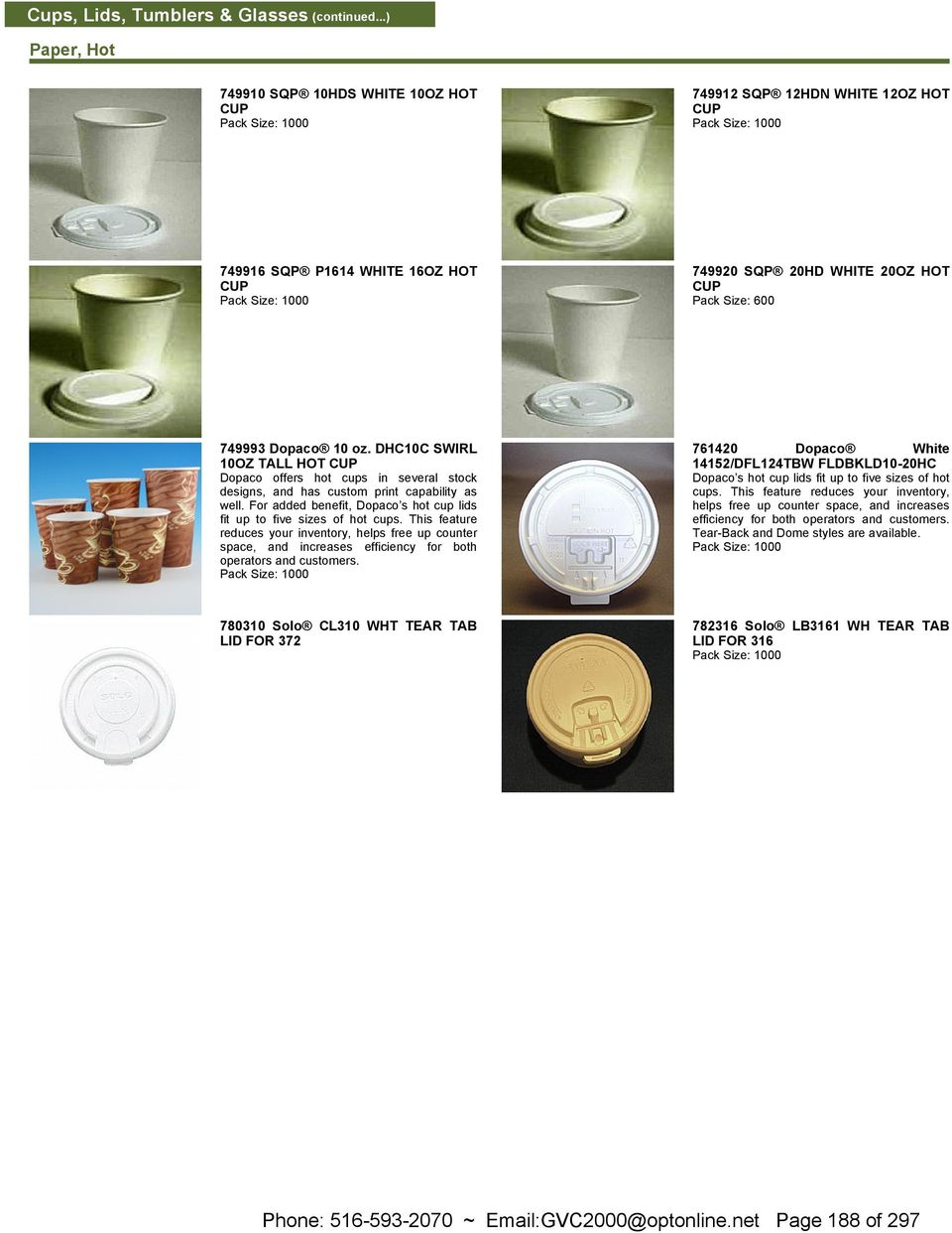 Phone: ~ Page 173 of 297  Containers & Lids (continued