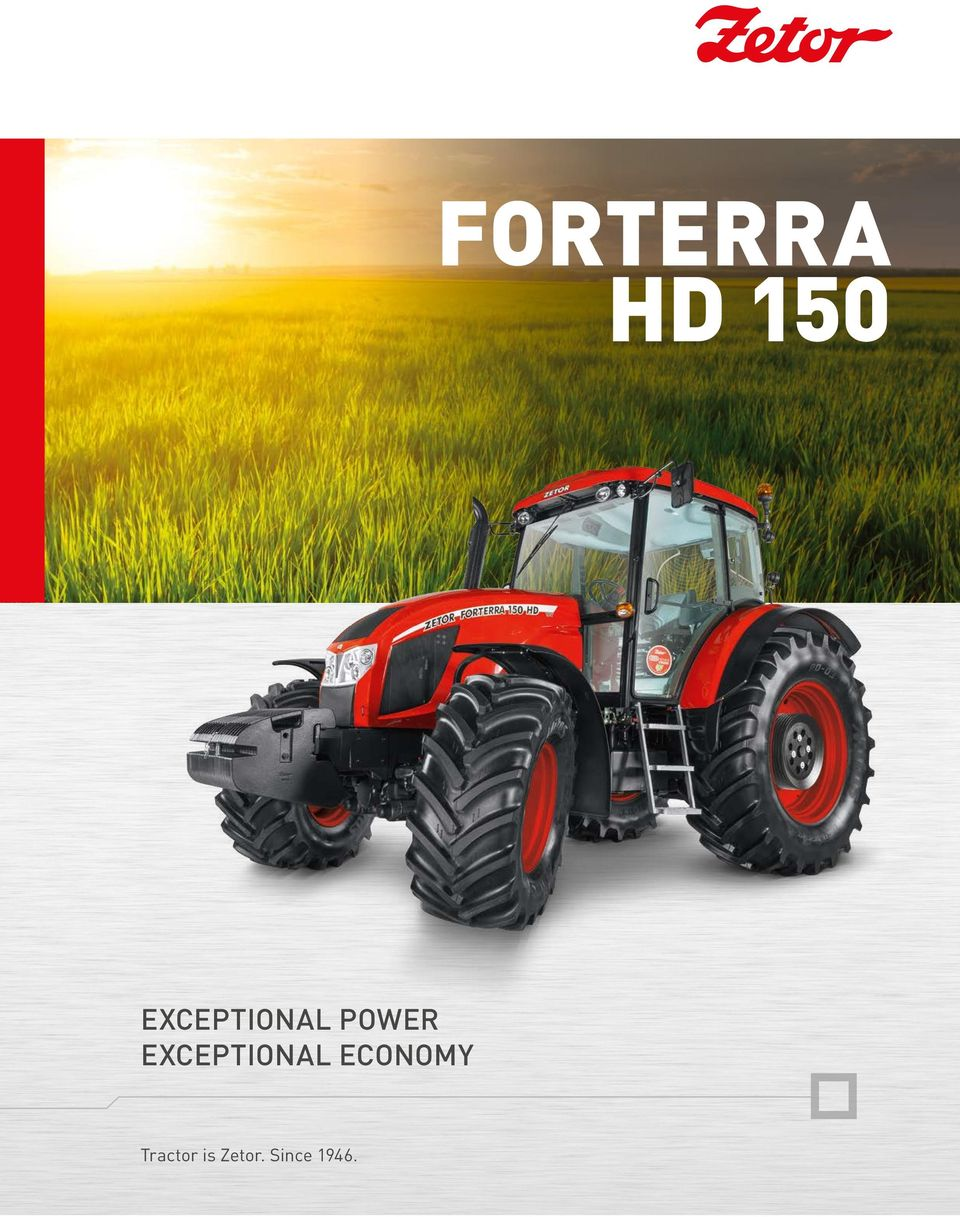 forterra HD 150 Exceptional Economy Tractor is Zetor  Since PDF