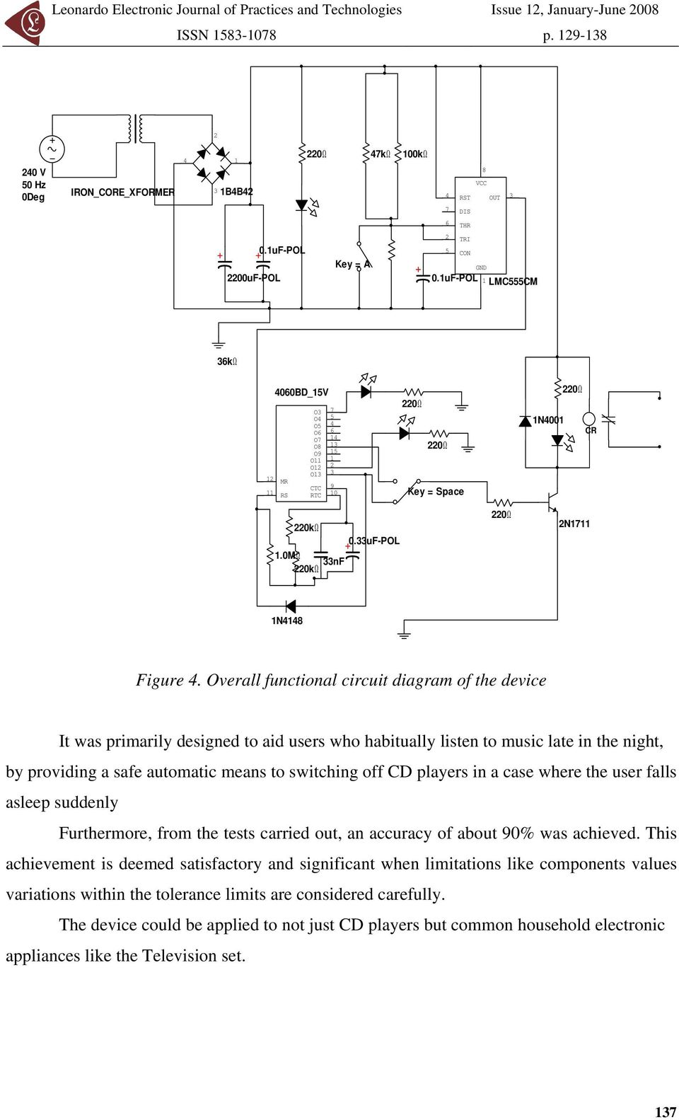 Development Of A Light Dependent Automatic Off Timer For House Bistable Circuit Diagram Composed 555 Basiccircuit Uf Pol Lmc555cm 36k 2 4060bd 5v Mr Rs O3 7 O4 5 O5 4
