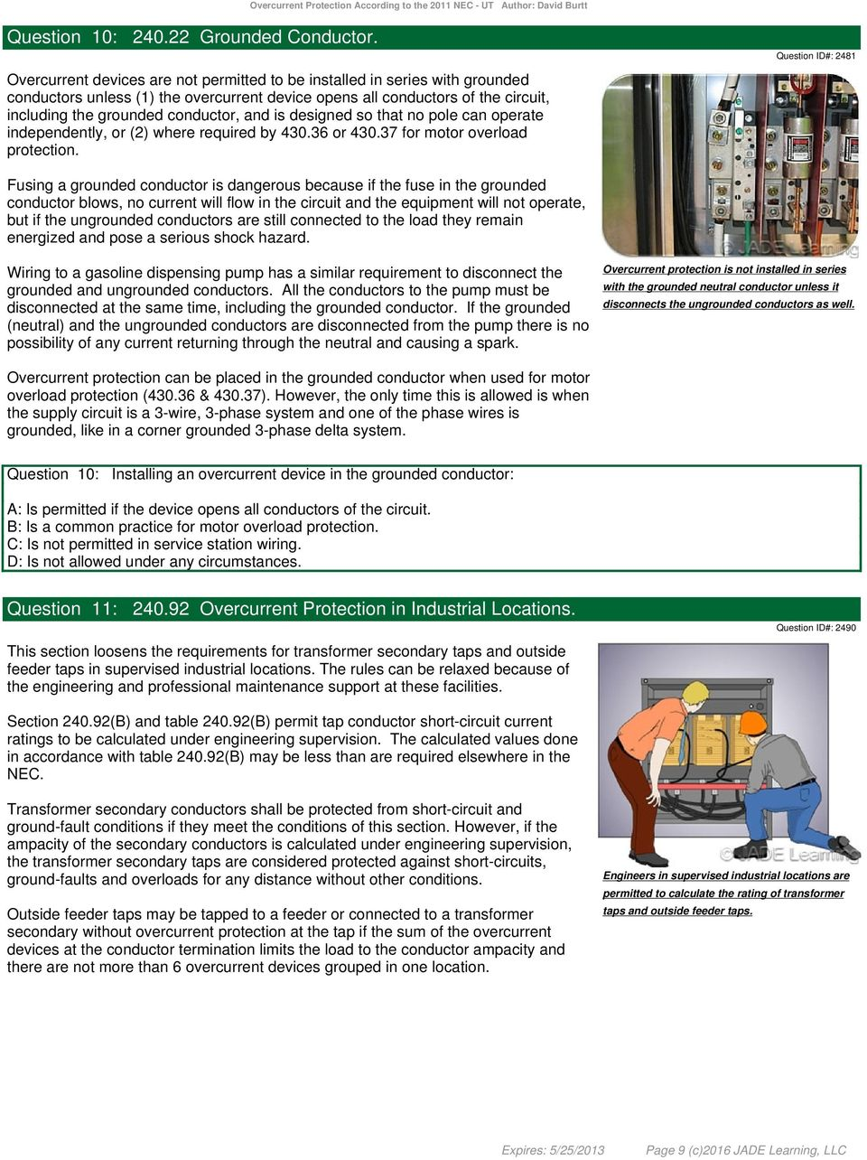 Overcurrent Protection According to the 2011 NEC - PDF