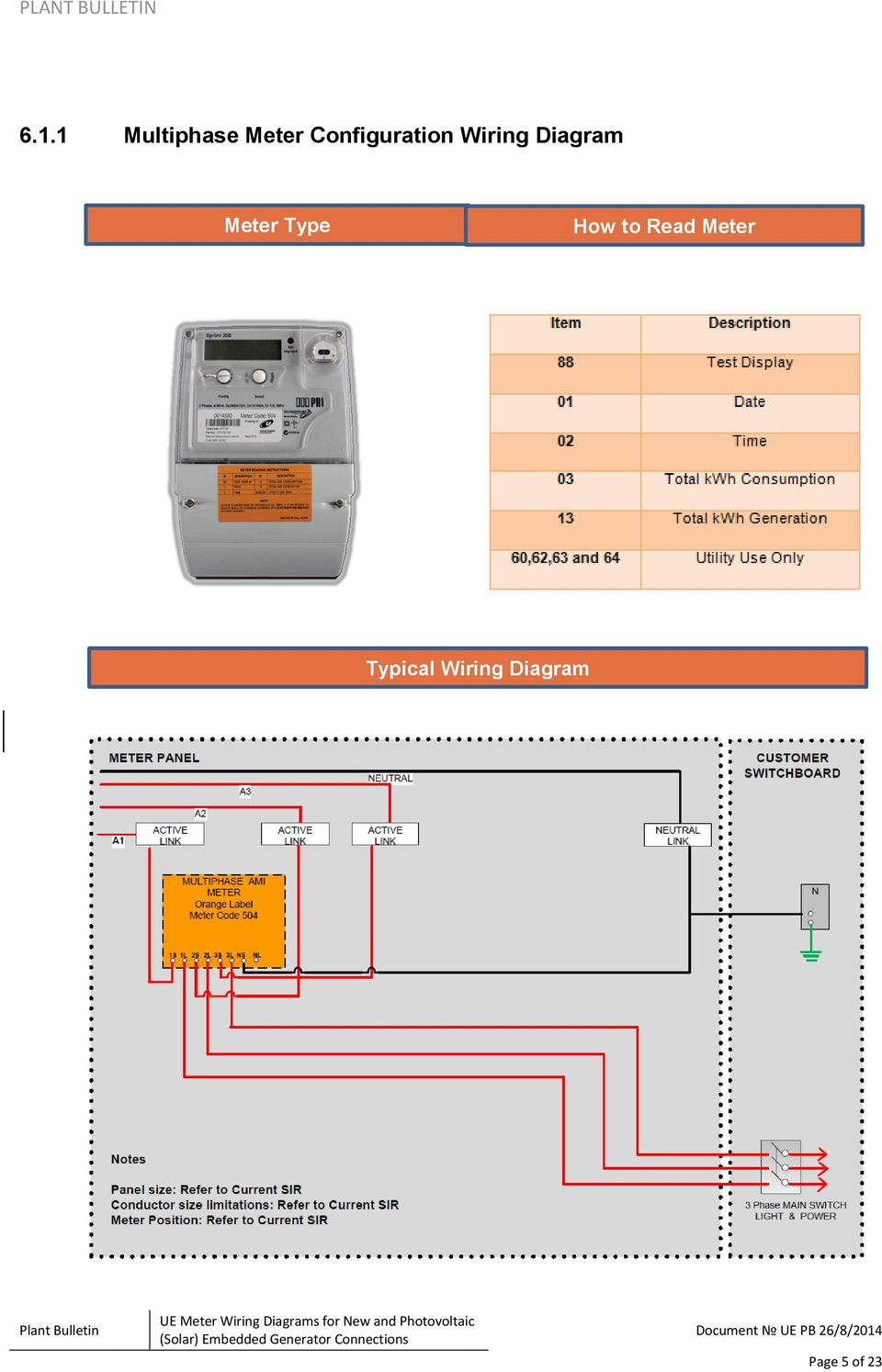 UE Plant Bulletin. UE Meter Wiring Diagrams for New and ... on