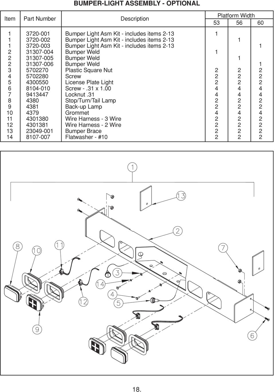 1998 jeep grand cherokee lift gate wiring diagram tailgates by thieman tt-15 owners manual/parts list shown ... #5
