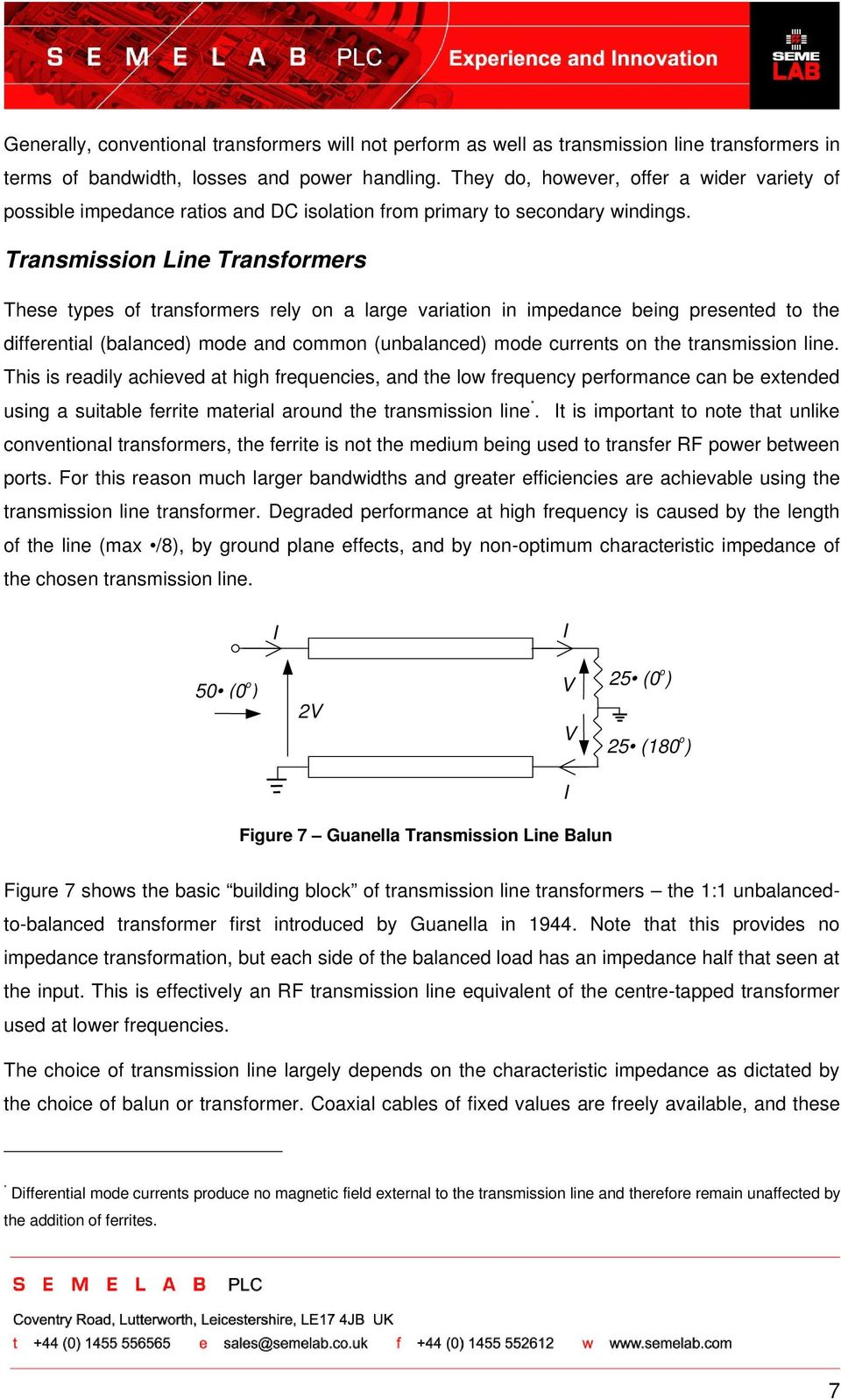 RF APPLICATION NOTE: PUSH-PULL CIRCUITS and WIDEBAND TRANSFORMERS - PDF