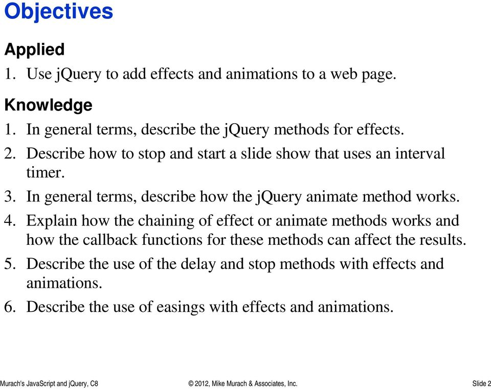 Chapter 8 How to use effects and animations - PDF