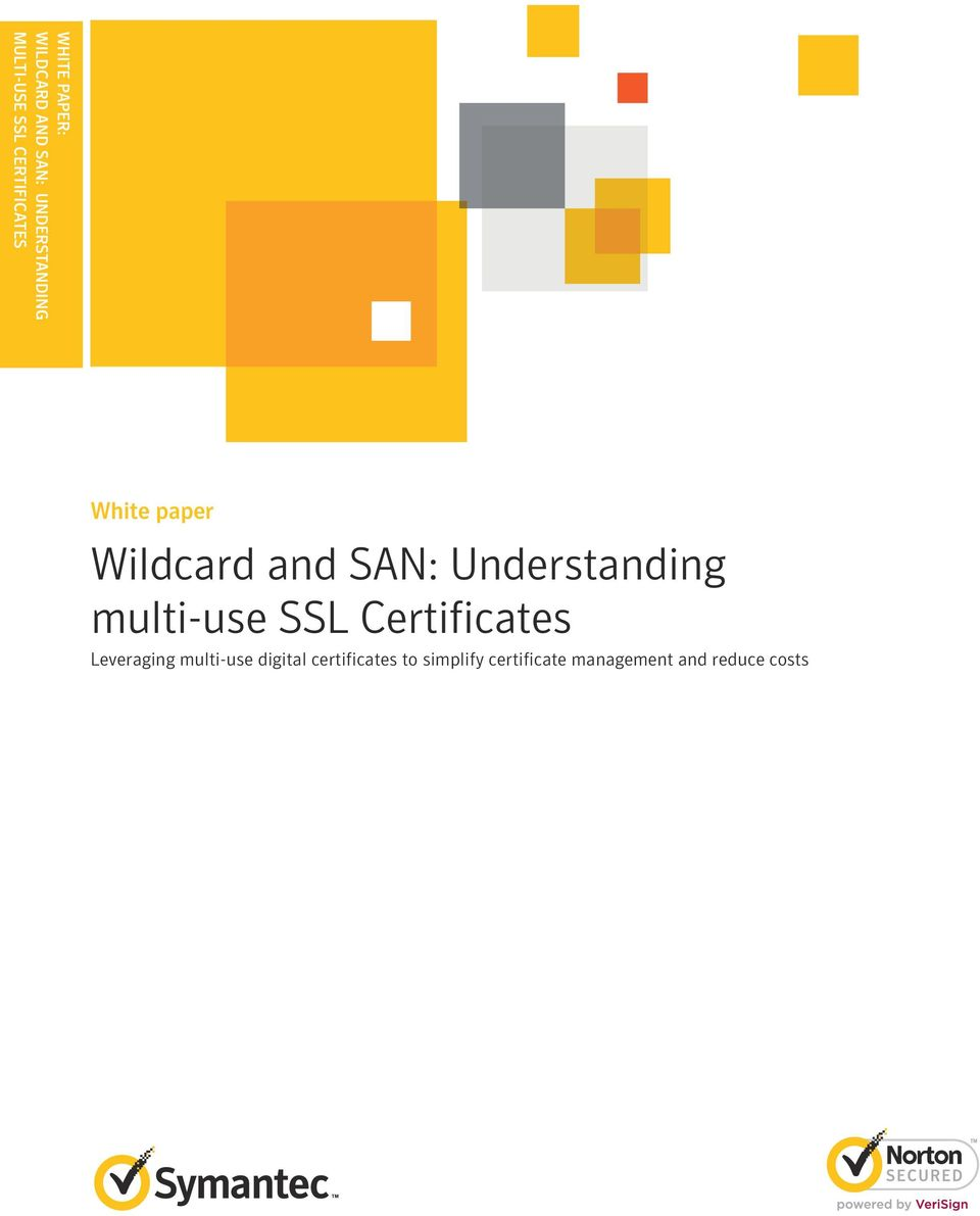 Wildcard And San Understanding Multi Use Ssl Certificates Pdf