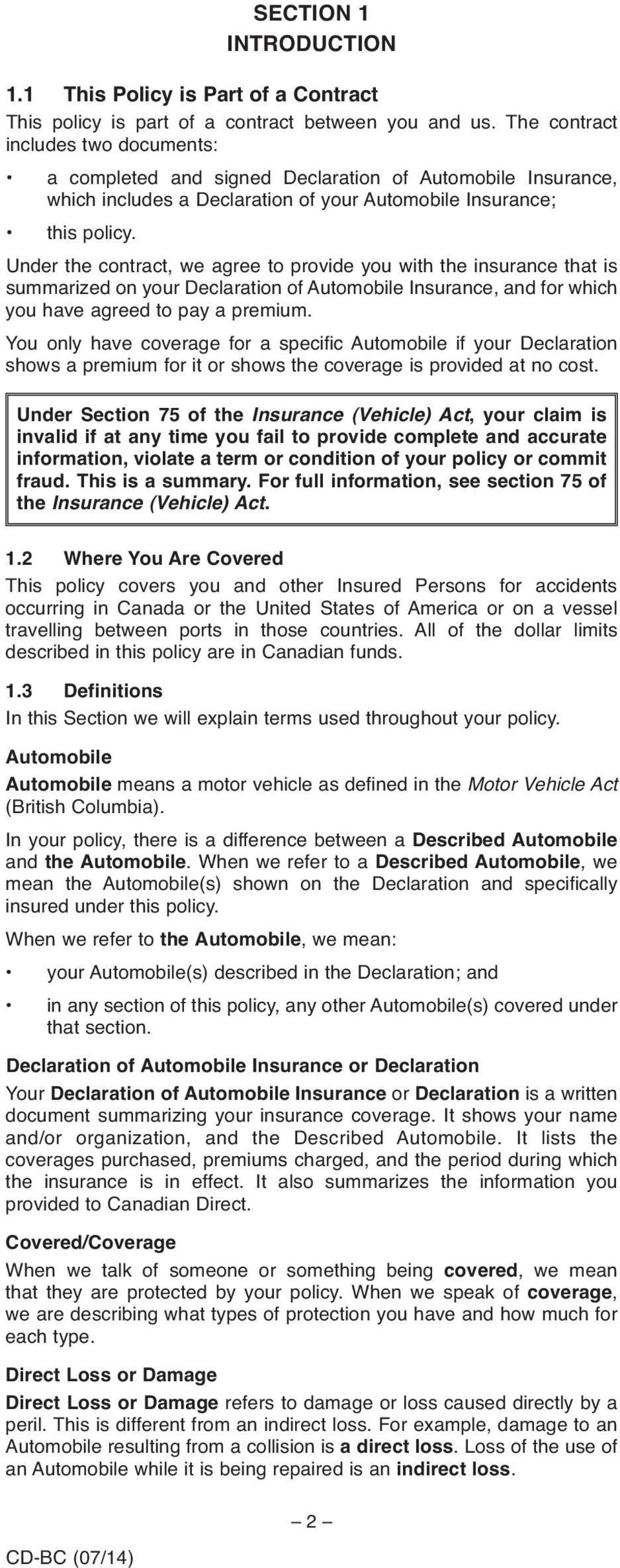 Car Insurance Declaration Page Example - Cars Models