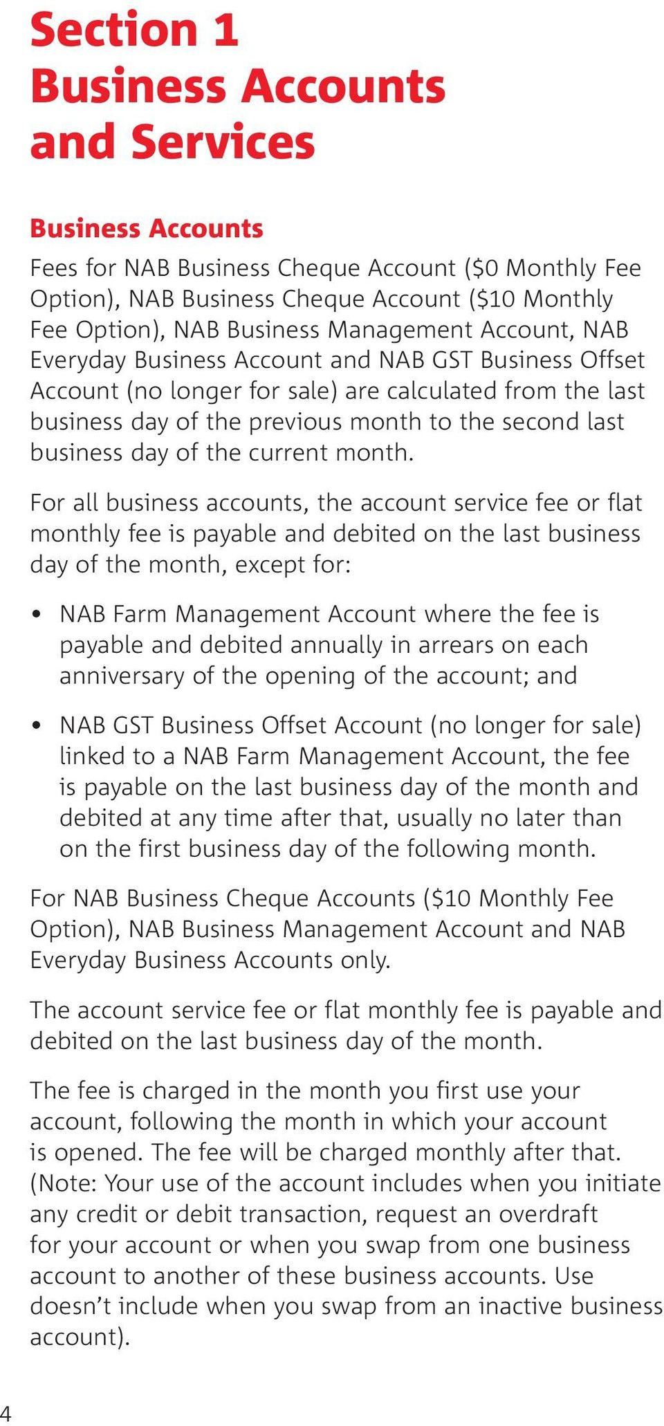 Business Banking Fees - PDF
