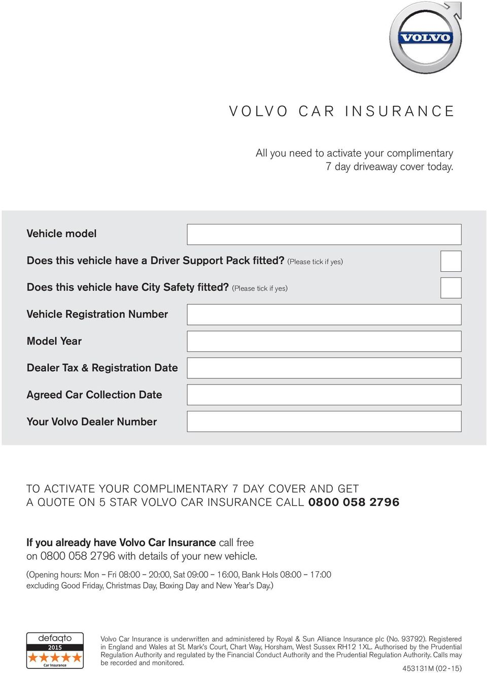 Please Tick If Yes Vehicle Registration Number Model Year Dealer Tax Registration Date