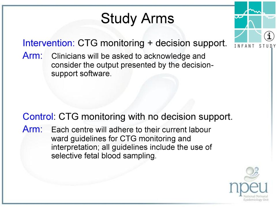 decisionsupport software. Control: CTG monitoring with no decision support.