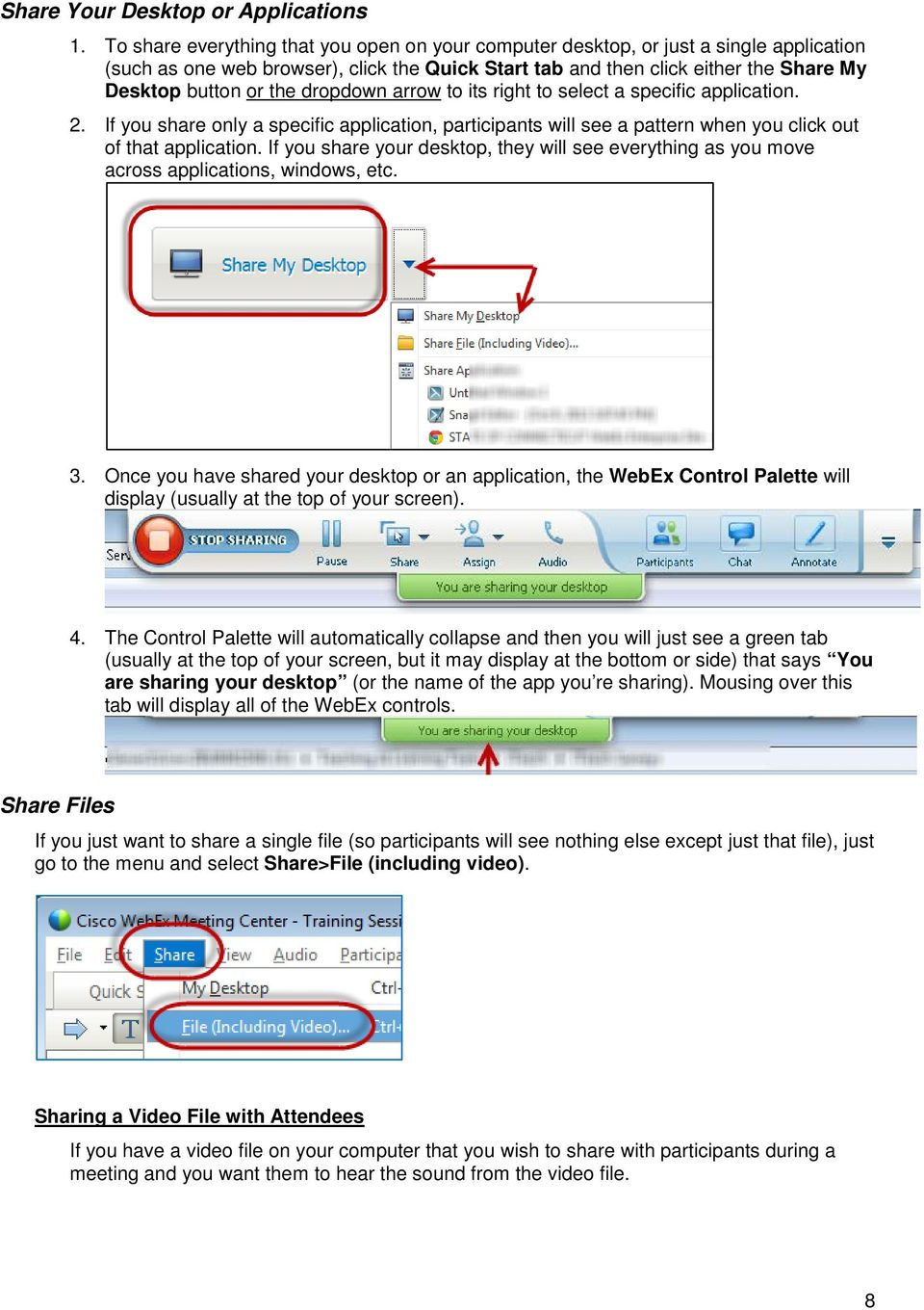 How to Host WebEx Meetings - PDF