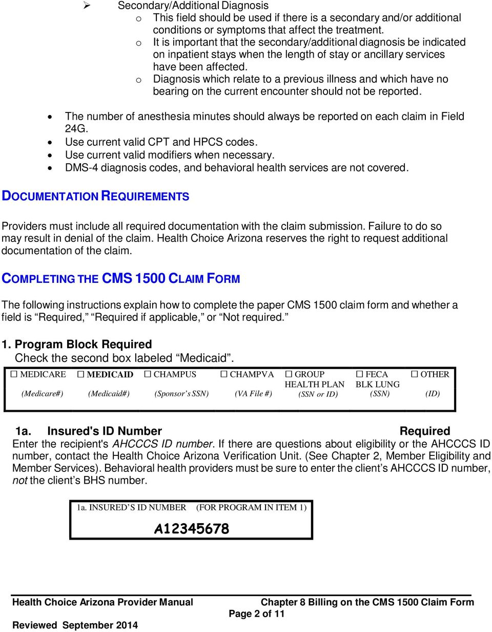 chapter 8 billing on the cms 1500 claim form - pdf