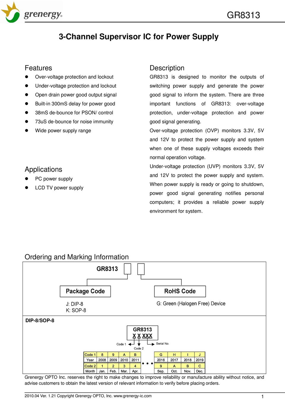 3 Channel Supervisor Ic For Power Supply Pdf Surges Circuit Protection Ics Content From Switching And Generate The Good Signal To Inform System