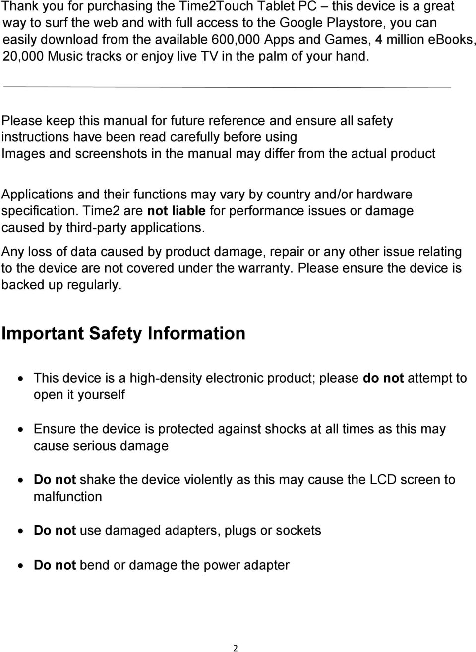 Please keep this manual for future reference and ensure all safety instructions have been read carefully before using Images and screenshots in the manual may differ from the actual product