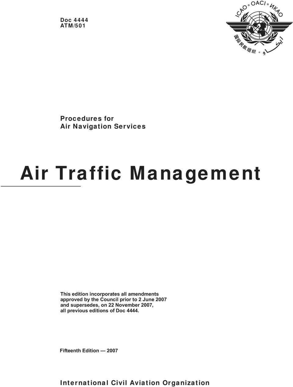Icao Doc 4444 15th Edition Pdf