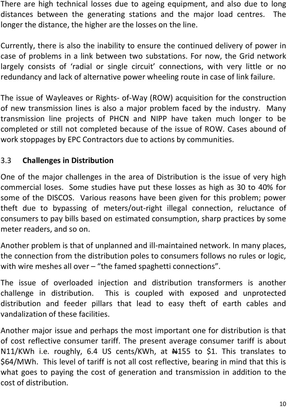 The Nigerian Electricity Supply Industry Status Challenges And Electrical Installation Wiring Pictures Feeder Pillar Single Line For Now Grid Network Largely Consists Of Radial Or Circuit Connections With