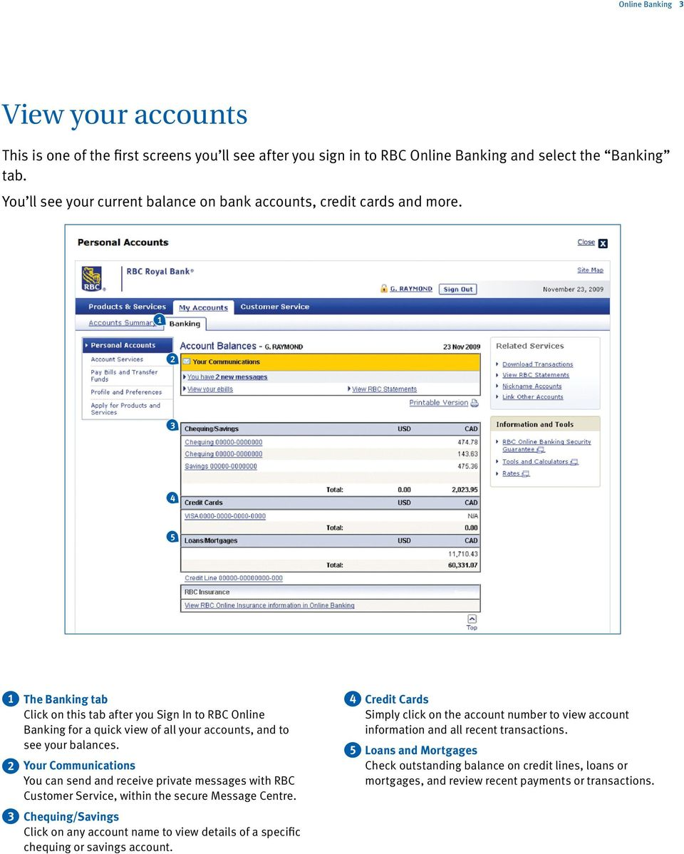 Your quick guide to RBC Online Banking - PDF