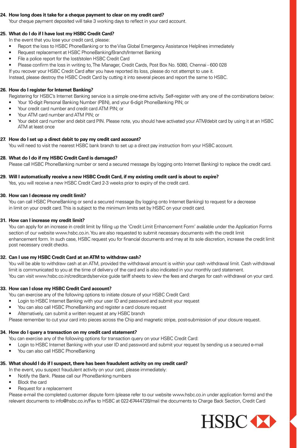 Frequently Asked Questions (FAQs) on Credit Cards - PDF