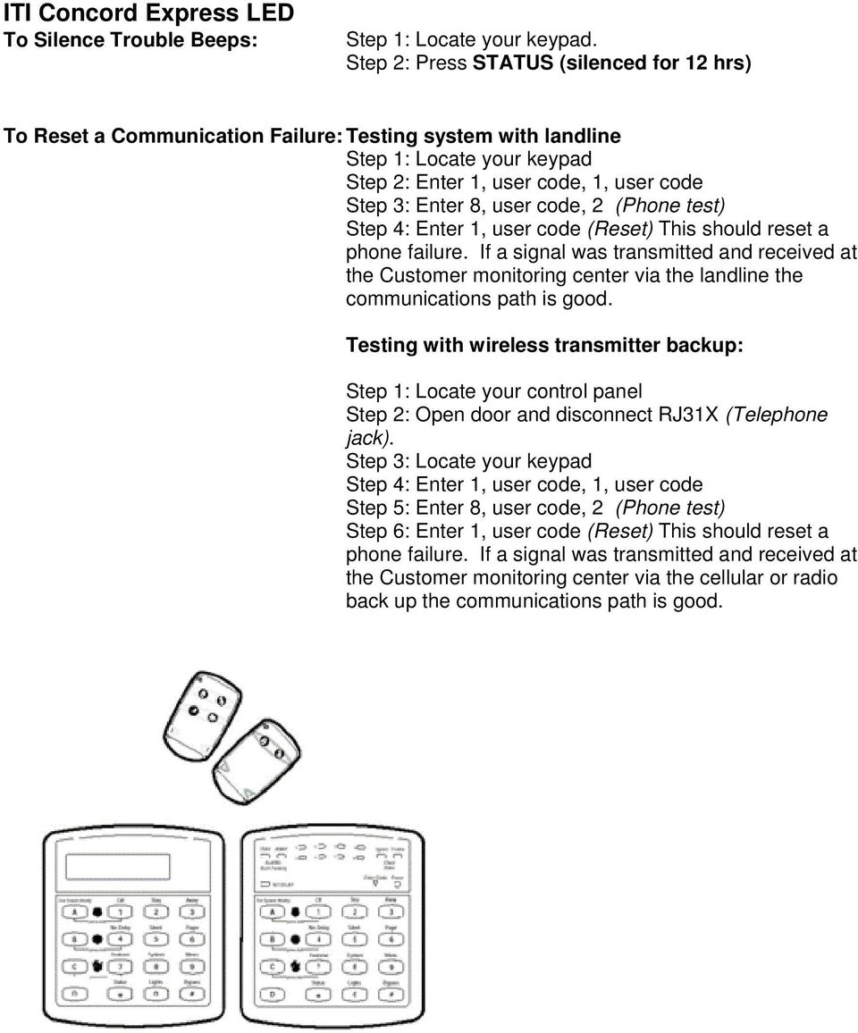 AMPS Information  The keypad pictures listed here may vary