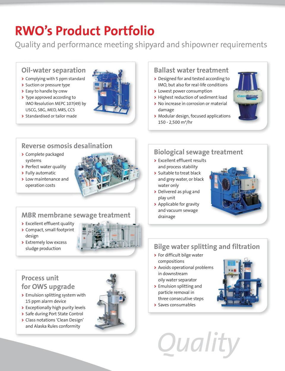Total water management  Water and wastewater treatment systems for