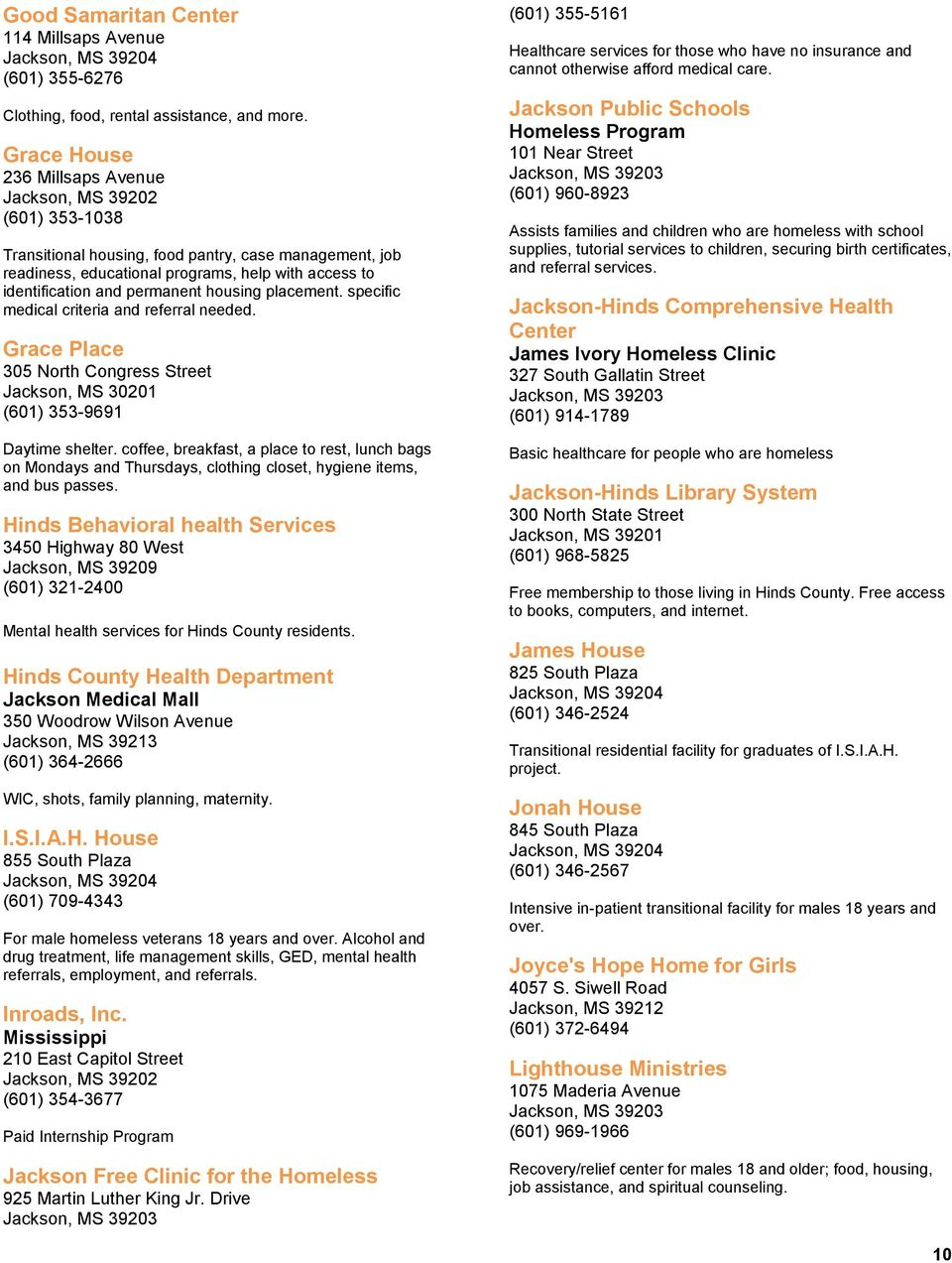 Statewide Homeless Resource Directory January Version Pdf