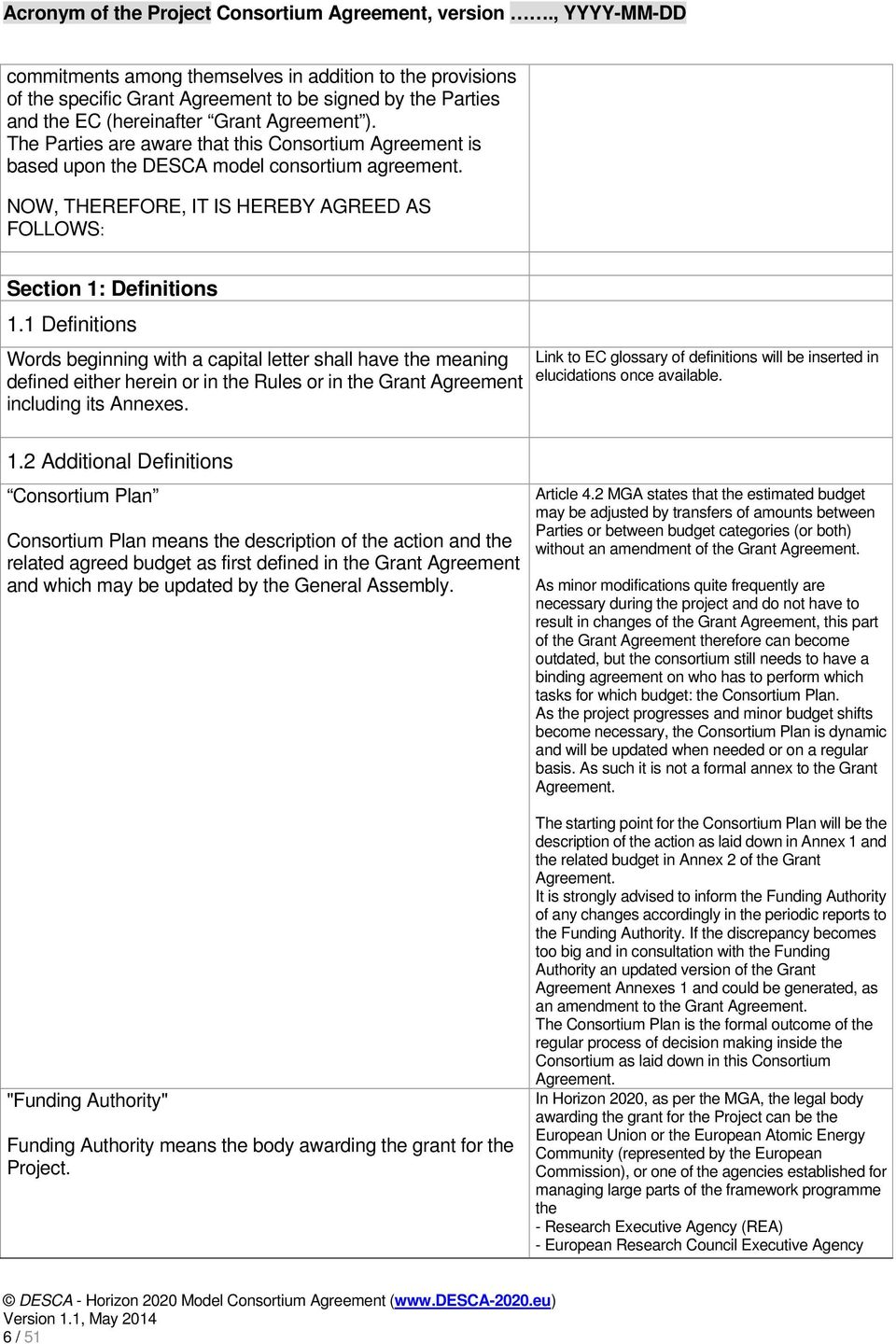 The Working Group Provides This Model Consortium Agreement As Draft