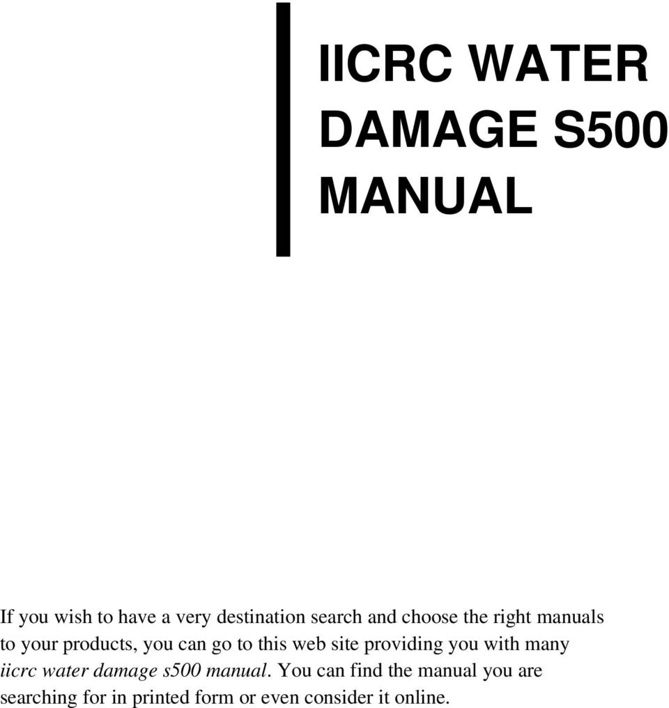 Iicrc water damage s500 manual pdf transcription fandeluxe Images