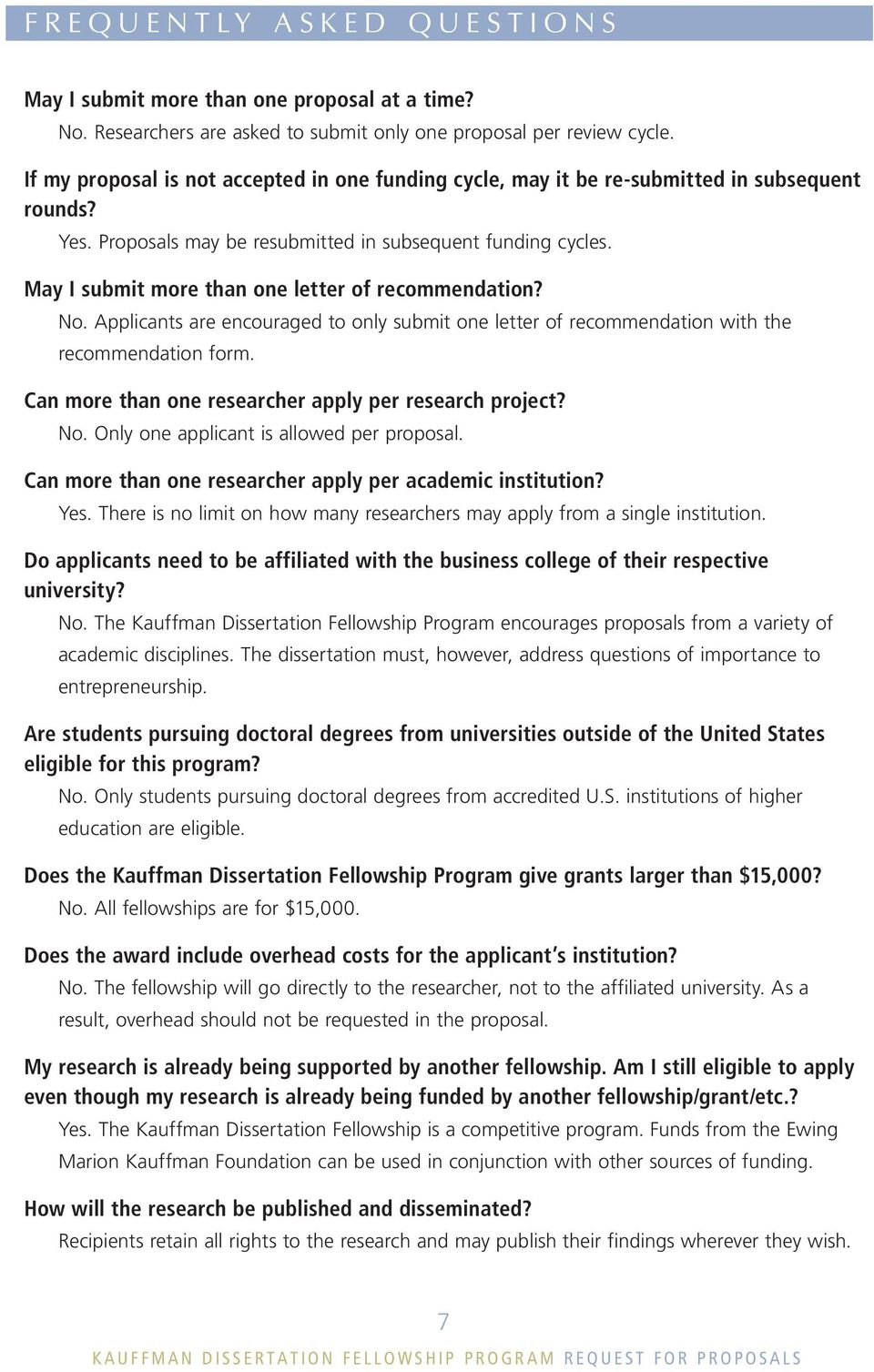 kauffman dissertation fellowship program