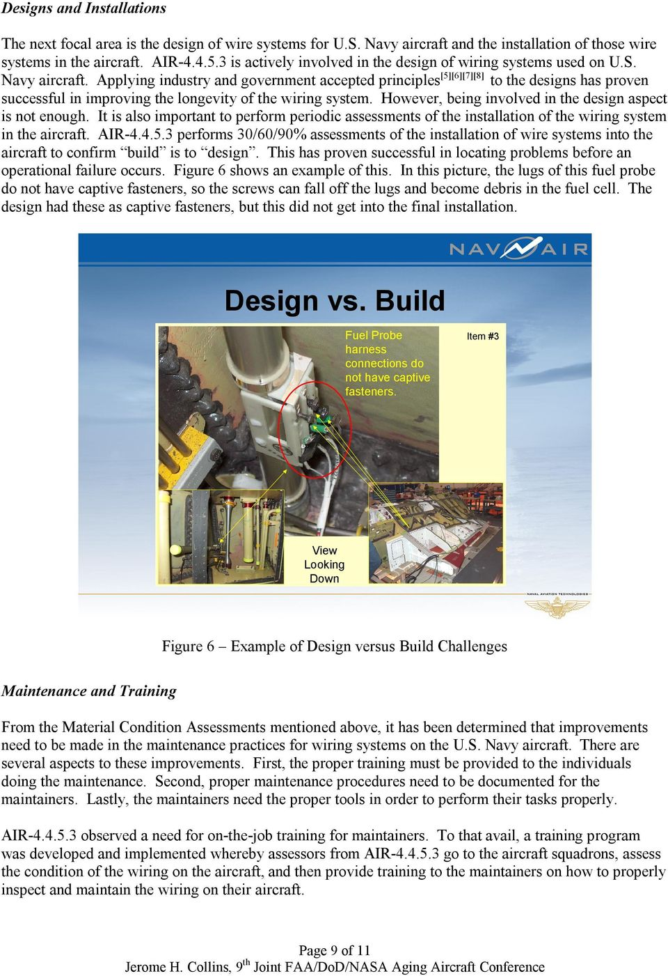 The Challenges Facing Us Navy Aircraft Electrical Wiring Systems Pdf Practices Applying Industry And Government Accepted Principles 567