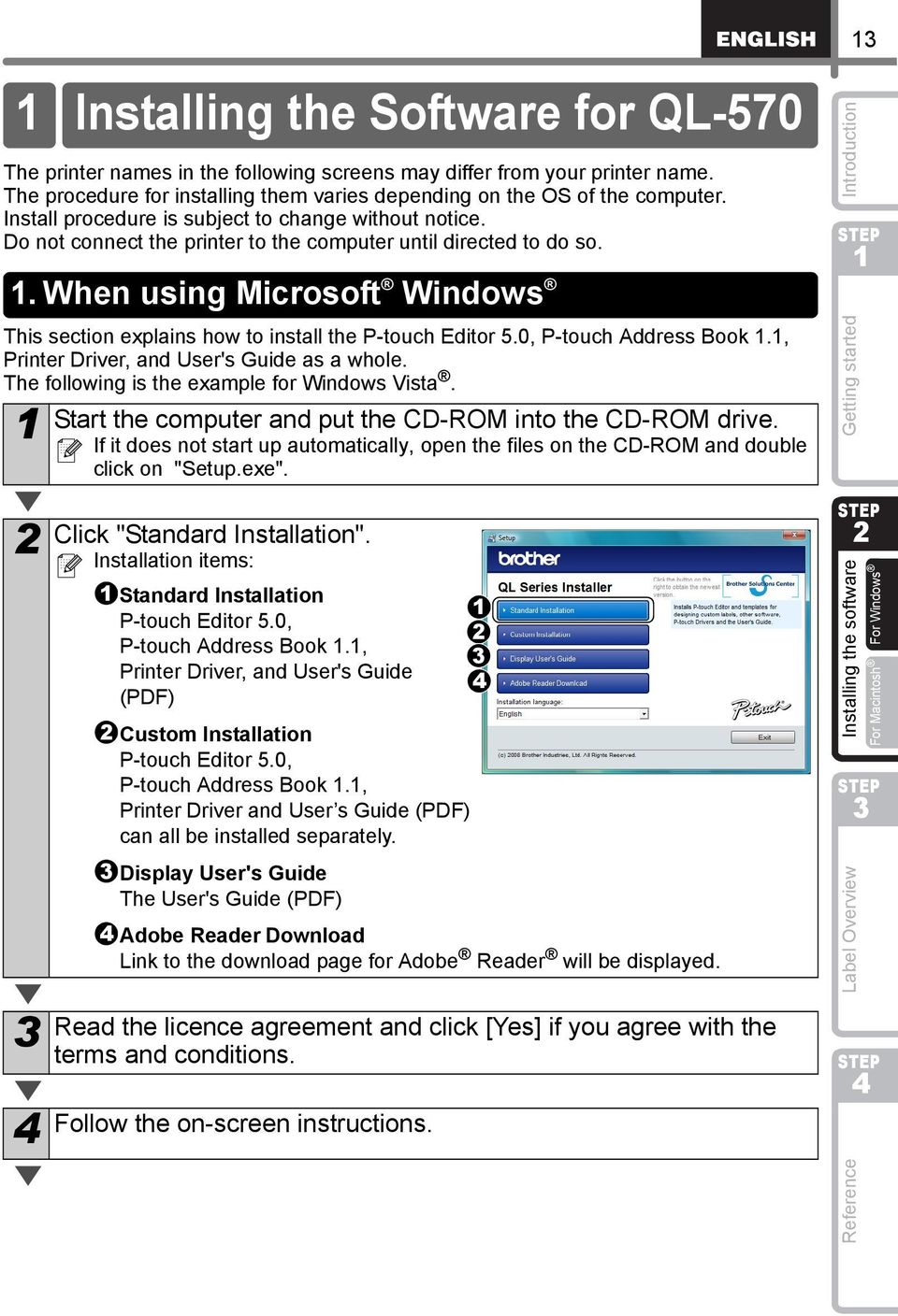 p-touch editor download ql-570