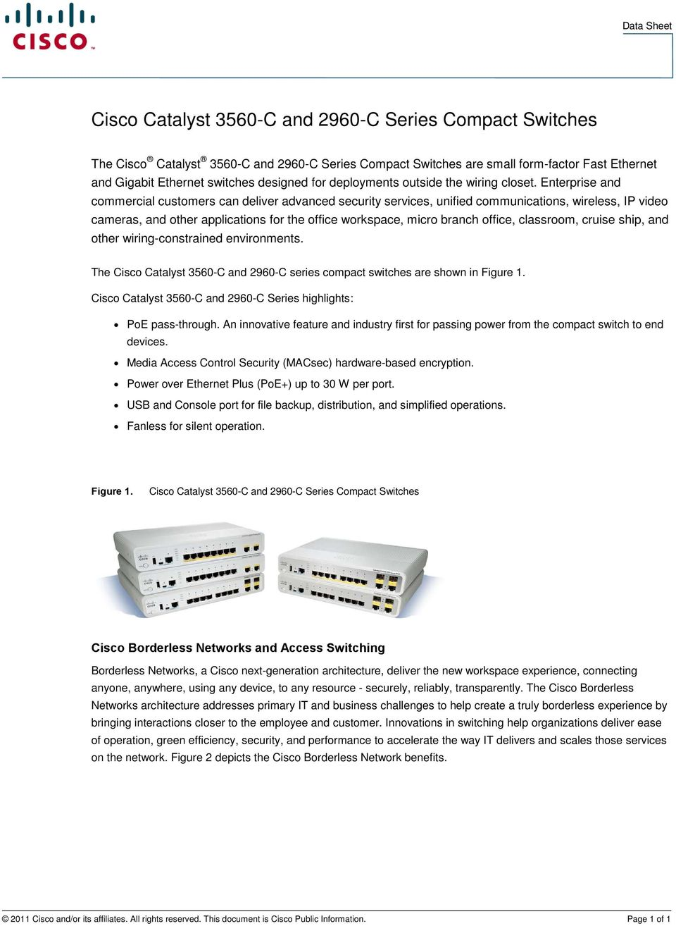 Cisco Catalyst 3560-C and 2960-C Series Compact Switches - PDF