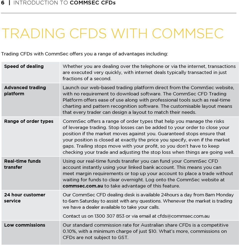 transacted in just fractions of a second. Launch our web-based trading platform direct from the CommSec website, with no requirement to download software.