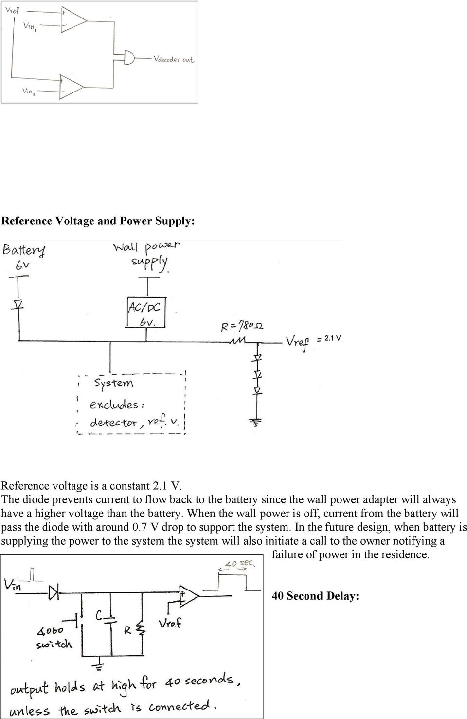 Final Project Report E3390 Electronic Circuit Design Lab Automatic Analysis And Neamen 2nd Edition Battery When The Wall Power Is Off Current From Will Pass
