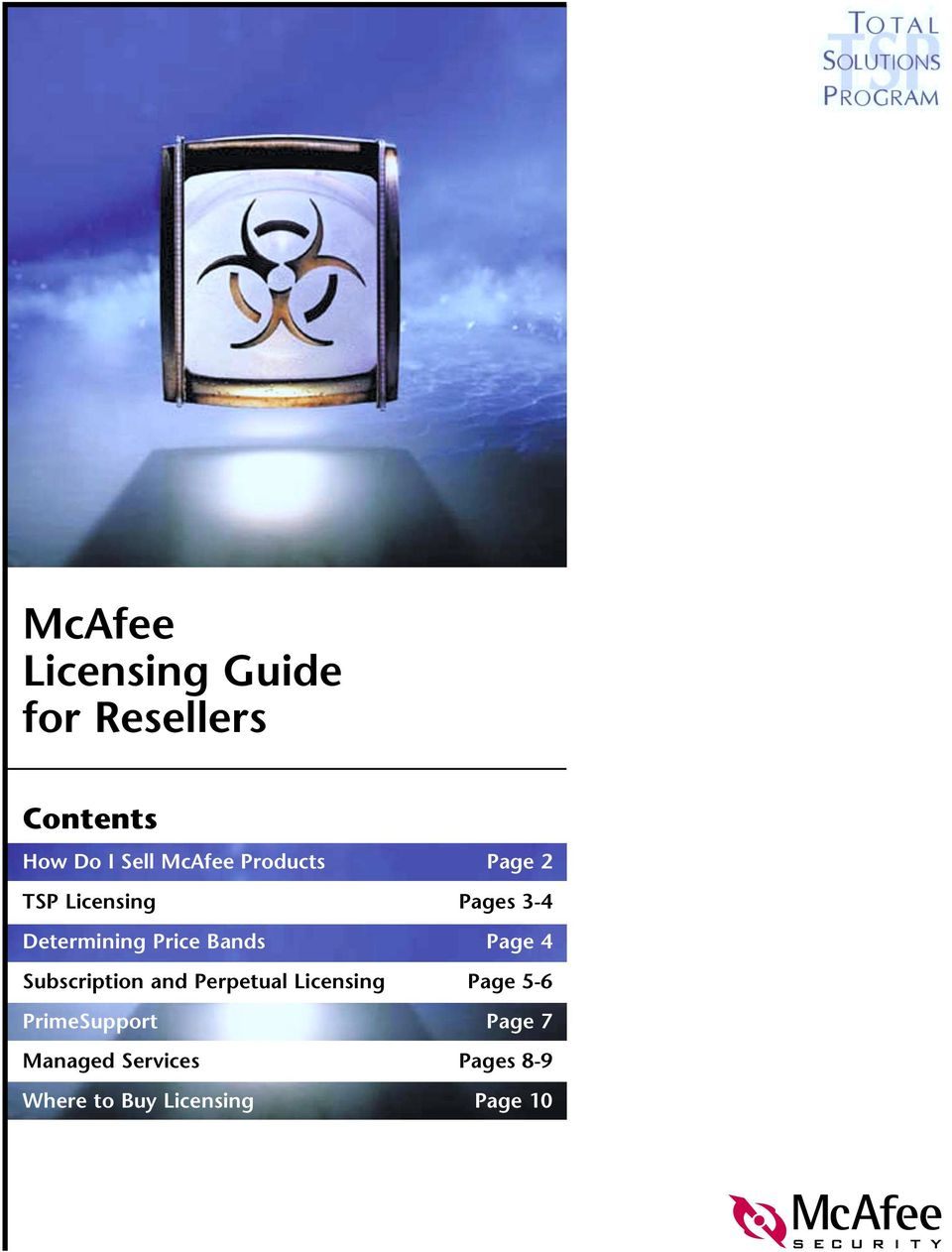 McAfee Licensing Guide for Resellers - PDF